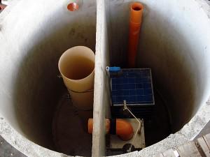vasca recupero acque piovane di tipo circolare
