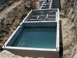 vasche di contenimento del depuratore