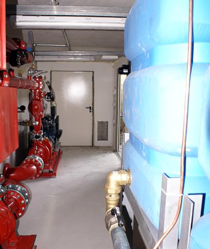 stazione di pompaggio vasca antincendio