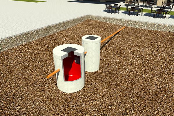 degrassatore prefabbricato in cemento armato vibrato